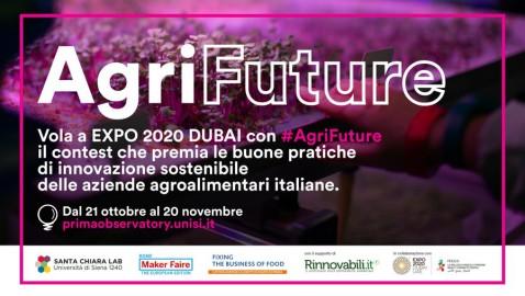 #AgriFuture: parte il contest per premiare le migliori pratiche di innovazione sostenibile delle aziende agroalimentari italiane