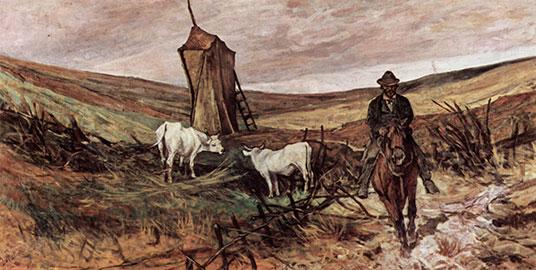 Buttero e mucche, Giovanni Fattori
