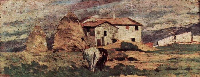 Case nelle campagne livornesi, Giovanni Fattori