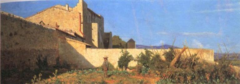 Orto a Castiglioncello, Odoardo Borrani