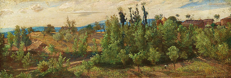 Paesaggio boscoso presso Perugia, Giovanni Costa detto Nino