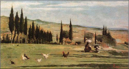 Paesaggio del Gabbro, Silvestro Lega