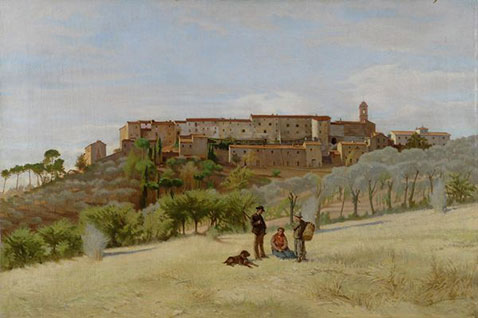 Paese Toscano, Odoardo Borrani
