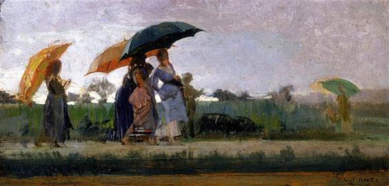 Passeggiata Sotto la Pioggia, Cristiano Banti
