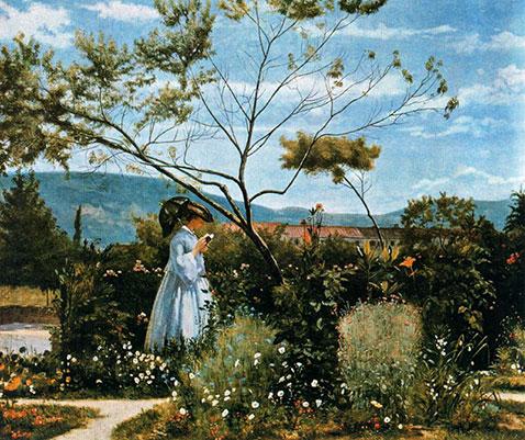 Tra i fiori del giardino, Silvestro Lega