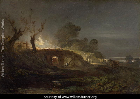 A Lime Kiln at Coalbrookdale, William Turner