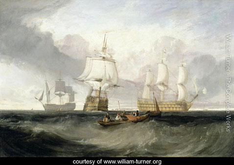 The Victory Returning from Trafalgar, William Turner
