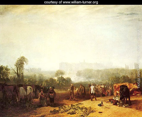 Ploughing up Turnips, near Slough, William Turner
