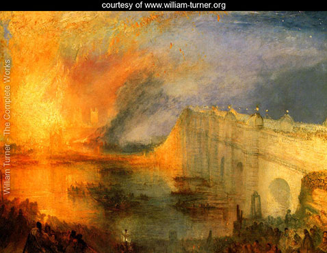 The Burning of the Houses of Parliament 1, William Turner