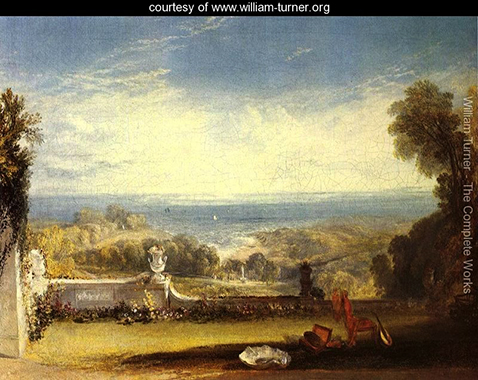 View From The Terrace Of A Villa At Niton Isle Of Wight From Sketches By A Lady, William Turner