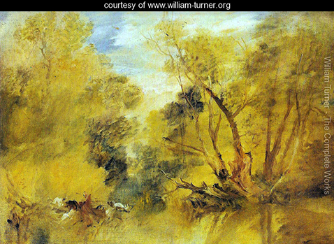 Willows on the brink of a madness brook, William Turner