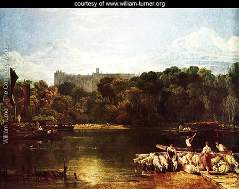 Windsor Castle From The Thames, William Turner