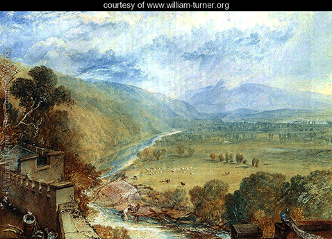 Ingleborough From The Terrace Of Hornby Castle, William Turner