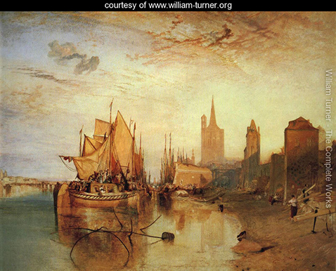Cologne The Arrival of a Packed Boat Evening , William Turner