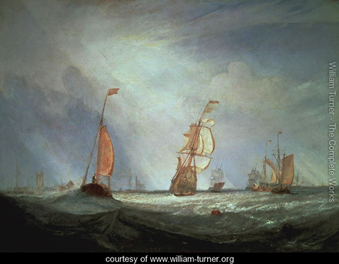 Helvoetsluys ships going out to sea, William Turner