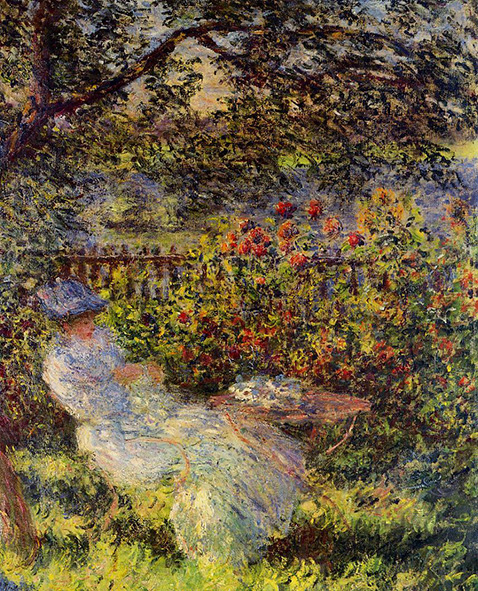 Alice Hoschede in the Garden - Claude Monet