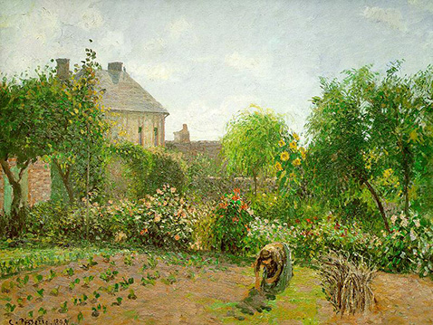 The Artist's Garden at Eragny - Camille Pissarro