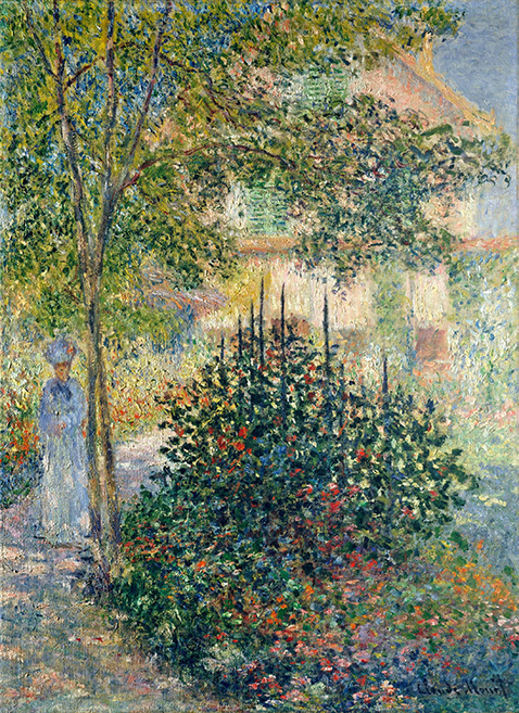 Camille Monet in the Garden at the House in Argenteuil - Claude Monet