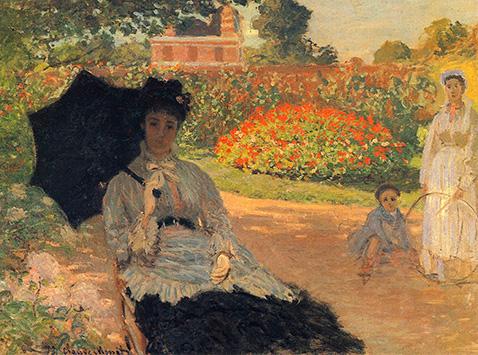 Camille Monet in the Garden - Claude Monet
