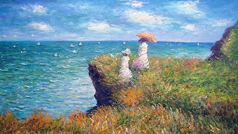Cliff Walk At Pourville - Claude Monet