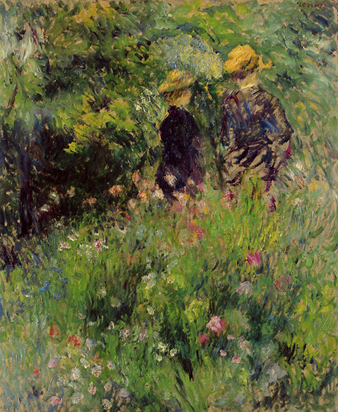 Conversation in a Rose Garden - Auguste Renoir