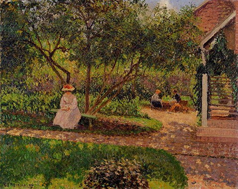 orner of the Garden in Eragny - Camille Pissarro
