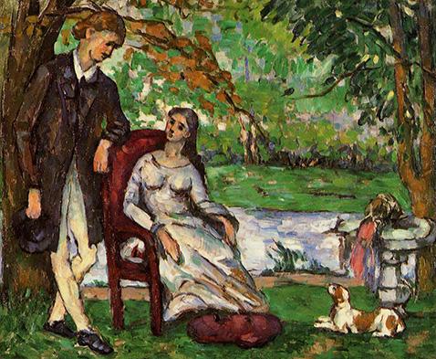 Couple In A Garden - Paul Cezanne