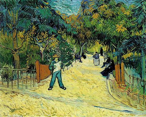 Entrance to the Public Garden in Arles - Vincent Van Gogh