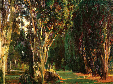 Falconieri Gardens Frascati - John Singer Sargent