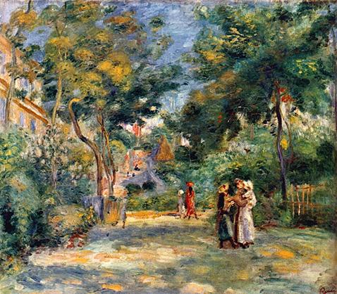 Figures in a Garden - Auguste Renoir