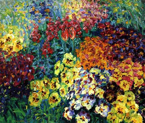 Flower Garden Pansies - Emil Nolde