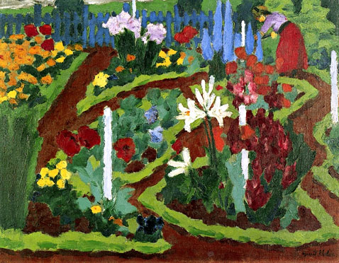 Flower Garden With Maria - Emil Nolde