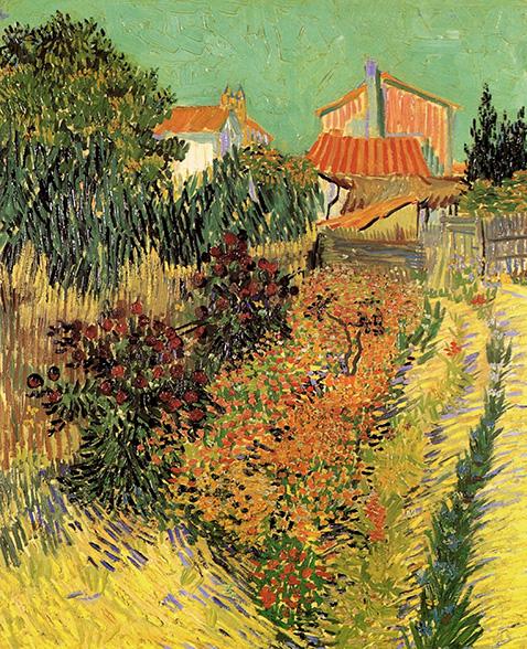 Garden Behind a House - Vincent Van Gogh