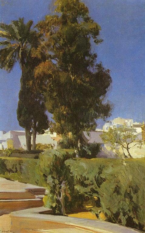 Garden Of Alcázar Sevilla - Joaquin Sorolla