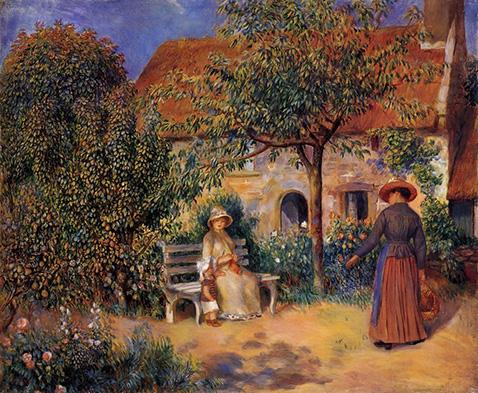 Garden Scene in Brittany - Auguste Renoir