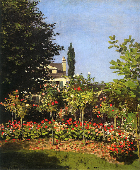 Garden in Bloom at Sainte-Addresse - Claude Monet