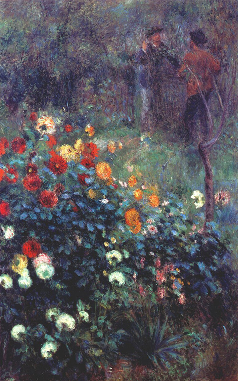 Garden in the rue cortot - Auguste Renoir