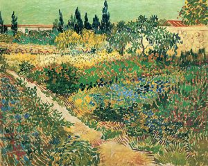 Garden with Flowers - Vincent Van Gogh