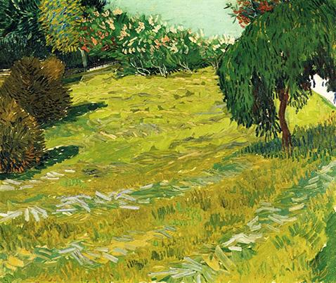 Garden with Weeping Willow - Vincent Van Gogh