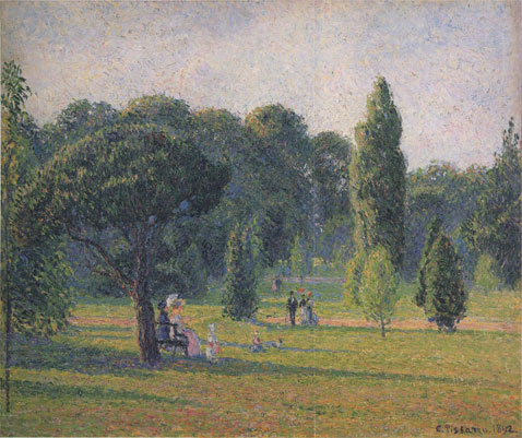Gardens At Kew Sunset - Camille Pissarro