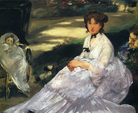 In The Garden - Edouard Manet