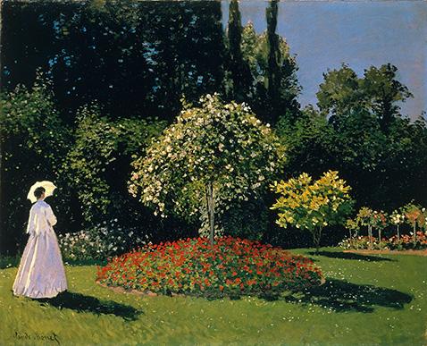 Jeanne-Marguerite Lecadre in the Garden - Claude Monet