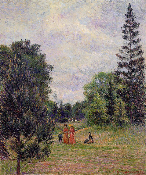 Kew Gardens Crossroads near the Pond - Camille Pissarro