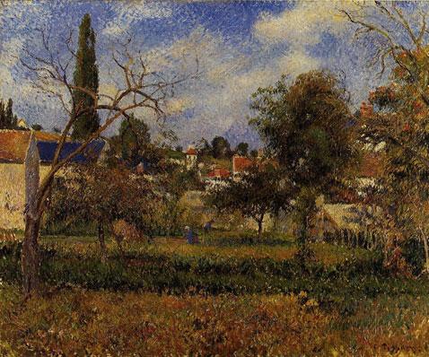 Kitchen Gardens Pontoise - Camille Pissarro