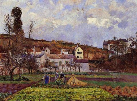 Kitchen Gardens at l'Hermitage Pontoise - Camille Pissarro