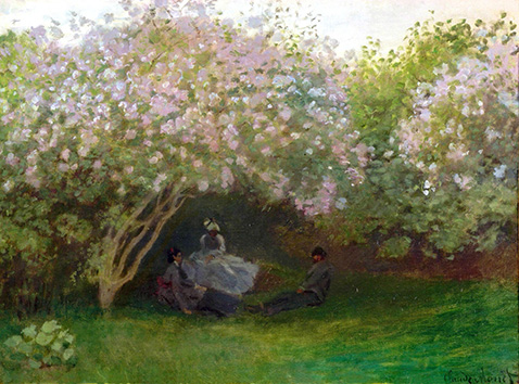 Lilacs Grey Weather - Claude Monet