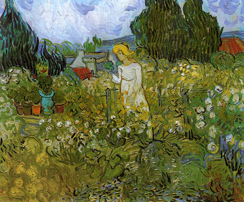 Mademoiselle Gachet in her garden at Auvers-sur-Oise - Vincent Van Gogh