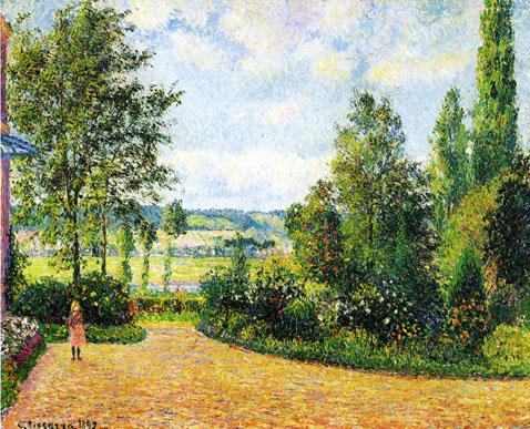 Mirbeau's Garden the Terrace - Camille Pissarro