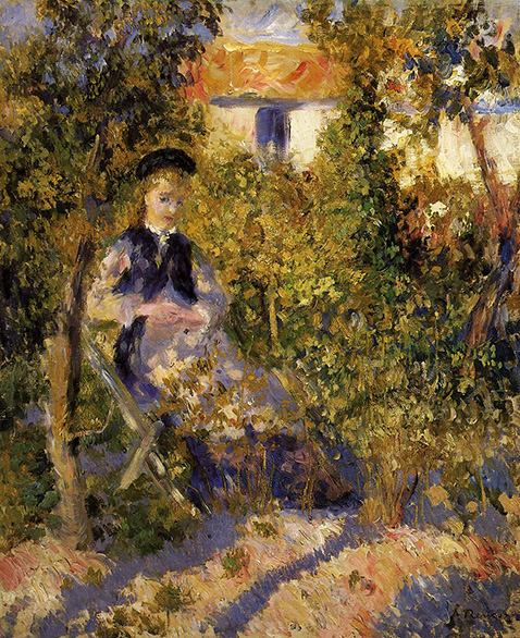 Nini in the Garden - Auguste Renoir