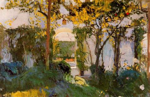 Old Garden Of Alcázar Sevilla - Joaquin Sorolla